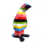 Pingouin rayures multicolores