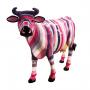 Vache rayures multicolores
