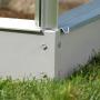 Base pour serre de jardin en verre trempé et structure aluminium - vénus 5000 - lams