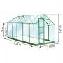 serre 6m2 serre en verre lams petite serre de jardin