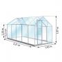 petite serre en verre de 6m² serre lams venus 6200