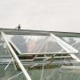 serre avec 2 lucarnes de toit pour aérer