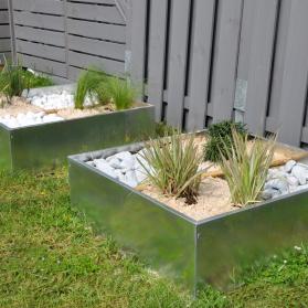 Carré potager ou décoratif - En zinc 60 x 60 x 20 cm