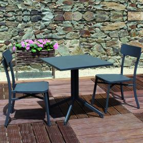 Salon de jardin MICA en aluminium anthracite