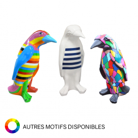 Pingouin en résine hauteur 40 cm pour décoration intérieure ou extérieure