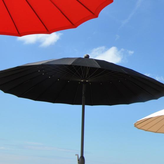 Parasol inclinable noir