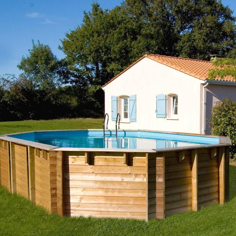 piscine bois octogonale vermela sunbay 6 72m x 4 72m x. Black Bedroom Furniture Sets. Home Design Ideas