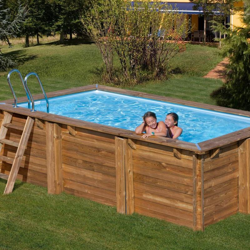 piscine bois rectangulaire marbella sunbay 4 27m x 2 72m x h 1 19 m