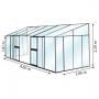 serre adossée en verre 12 m²