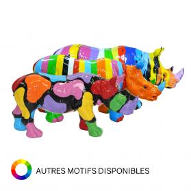 Rhinocéros 76 x H. 40 cm