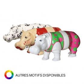 Hippopotame 87 x 29 x H. 41 cm