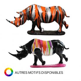 Rhinocéros sur socle 67 x 20 x 32 cm