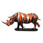 Rhinocéros sur socle trash design fond noir