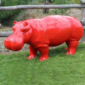 Hippopotame rouge XL