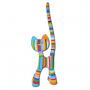 Chat design multicolore