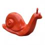 Escargot XL monochrome rouge