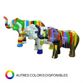 Éléphant avec trompe relevée 91 x 40 x H. 67 cm