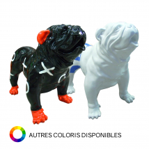 Bouledogue anglais debout morpion