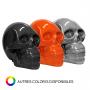 Crâne en résine orange