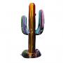 Cactus XL fond noir coulures peinture multicolore