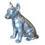 Bull terrier trash design fond gris