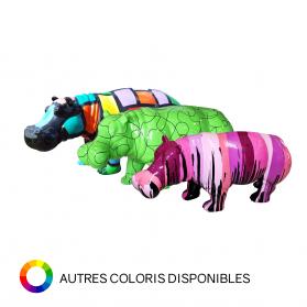 Hippopotame 86 x 30 x H. 39 cm