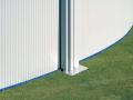 Piscine acier ovale Ø 5,00 x 3,00m blanche BORA BORA avec filtration à cartouche