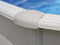 Piscine acier ovale Ø 7,30 x 3,75 m blanche FIDJI avec filtration à sable