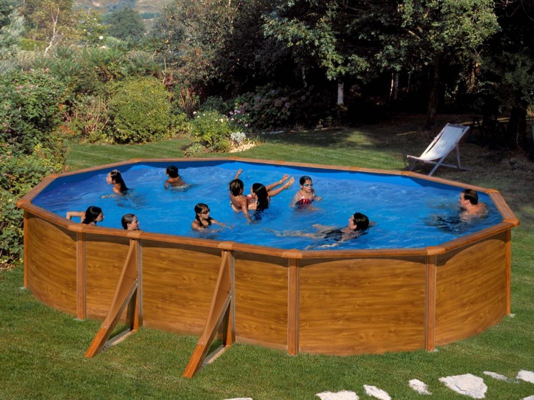 piscine hors sol acier ovale pacific 5 00 x 3 00m h. Black Bedroom Furniture Sets. Home Design Ideas