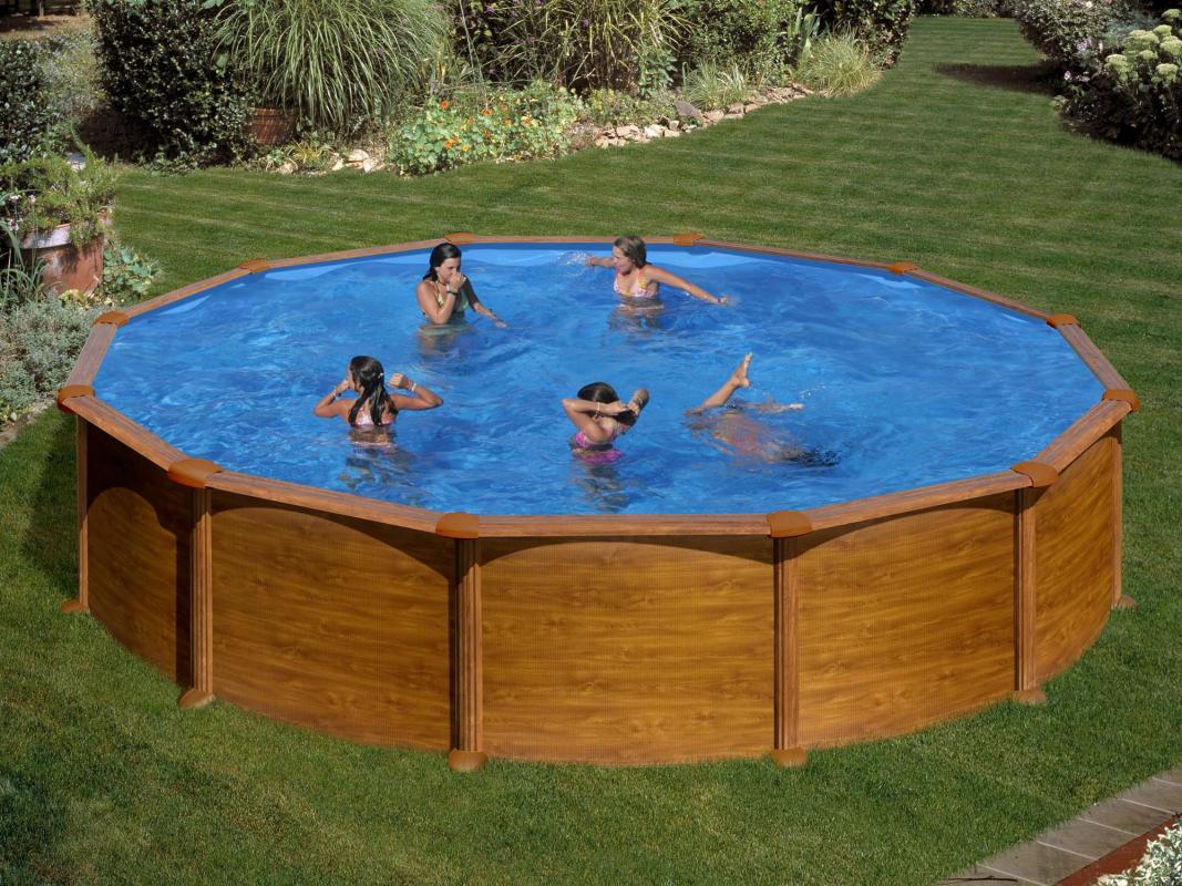 Piscine hors sol acier ronde mauritius 5 50 m x h m - Filtration piscine hors sol intex ...