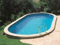 Piscine acier enterrée ovale 6.00 x 3.20 x H. 1.20 m SUMATRA avec filtration à sable