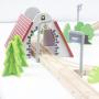 Train en bois et circuit en bois