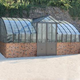 Serre MIRABEAU sur muret - Serre de jardin àl 'ancienne