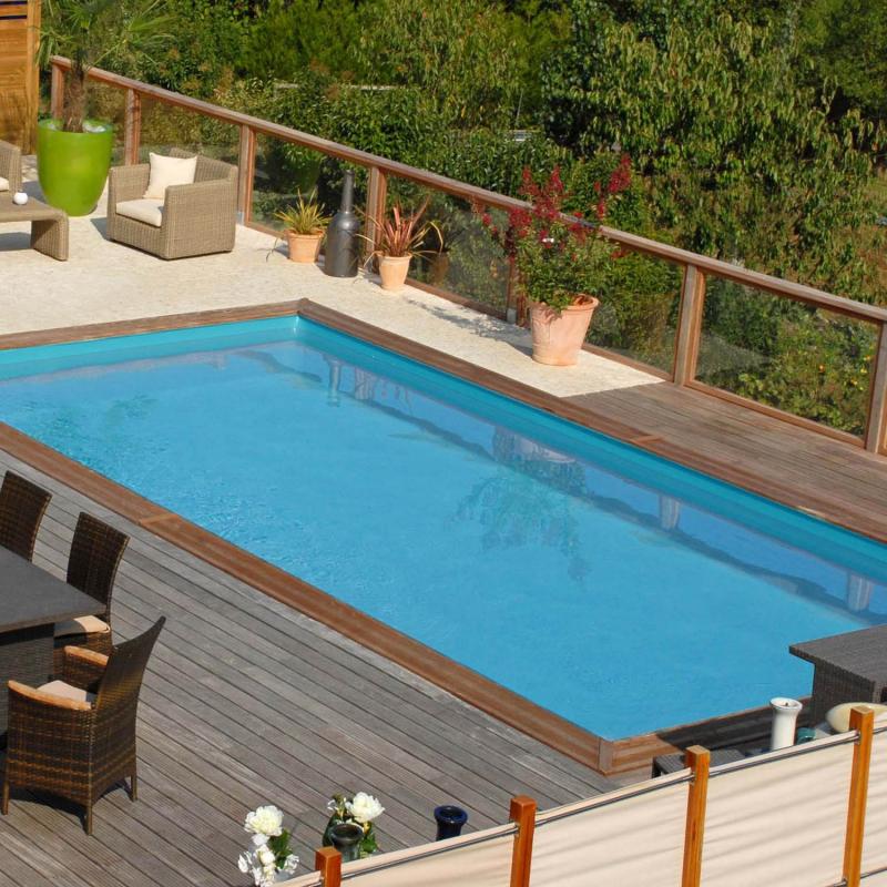 piscine bois rectangulaire 815 x 420m modèle braga  sunbay