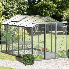 Serre en verre trempé Lams ESSENTIA 9,00 m² - Aluminium naturel