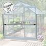 Serre en verre trempé Lams URANUS 11,45 m² avec base - Verte