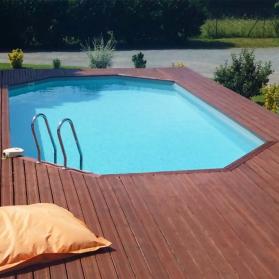 Piscine bois AVILA 9,42 m x 5,92 m x H. 1,46 m