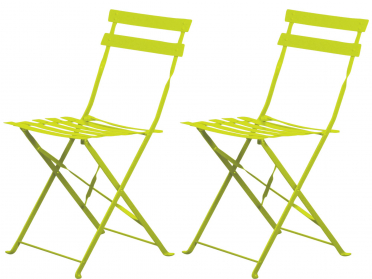 Lot de 2 chaises pliantes FUN
