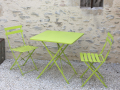 Lot de 2 chaises anis