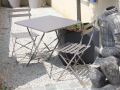 Lot de 2 chaises taupe