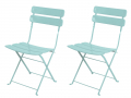 Lot de 2 chaises turquoise