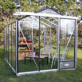 Serre en verre trempé Lams ESSENTIA 7,30 m² - Aluminium naturel