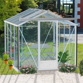 Serre en verre trempé Lams ESSENTIA 7,30 m² - Coloris au choix