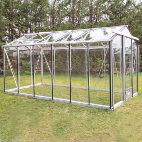 Serre en verre trempé Lams ESSENTIA 10,80 m² - Aluminium naturel