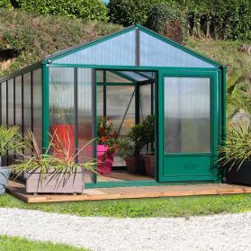 Serre en verre trempé Lams SUPRA 20,10 m² - Coloris au choix