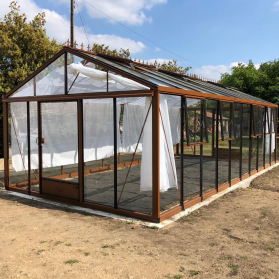 Serre en verre trempé Lams SUPRA 28,60 m² - Coloris au choix
