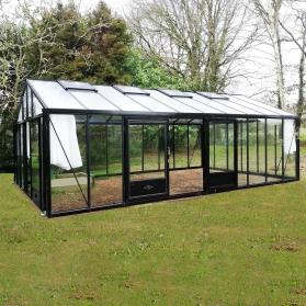 Serre en verre trempé Lams SUPRA 34,70 m² - Coloris au choix