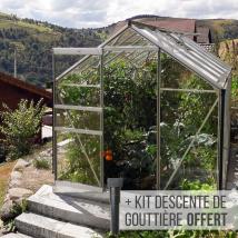 Serre de jardin en verre Allium 7500, serre 7,4m²