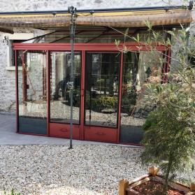 Serre adossée Lams LUXIA 7,20 m² - Coloris au choix