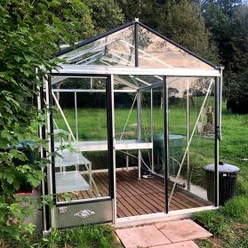 Serre en verre trempé Lams LUXIA 7,30 m² - Aluminium naturel